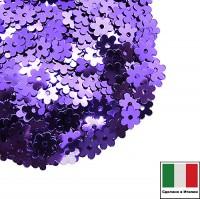 Пайетки 5 мм Италия Цветочки 5161 Viola chiaro Metallizzati (Фиолетовый металлик) 3 грамма 059624 - 99 бусин