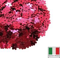 Пайетки 5 мм Италия Цветочки 5511 Rosso Cillegia Metallizzati (Вишневый металлик) 3 грамма 059625 - 99 бусин