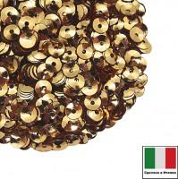 Пайетки 4 мм Италия чаша цвет 2011 Oro Metallizzato (Золото металлик) 3 грамма 059628 - 99 бусин