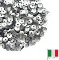 Пайетки 4 мм Италия чаша цвет 916W Argento Satinato (матовое серебро) 3 грамма 059629 - 99 бусин