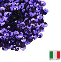 Пайетки 4 мм Италия чаша цвет 5161 Viola chiaro Metallizzati (Фиолетовый металлик) 3 грамма 059632 - 99 бусин