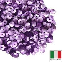 Пайетки 4 мм Италия чаша цвет 506W Lilla Satinato (Лиловый сатин) 3 грамма 059649 - 99 бусин