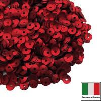 Пайетки 4 мм Италия чаша цвет 466W Rosso Satinato (Красный сатин) 3 грамма 059652 - 99 бусин