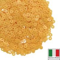 Пайетки 3 мм Италия плоские цвет 2014 Giallo Opaline (Желтый опал) 3 грамма (ок. 1600 штук) 059663 - 99 бусин