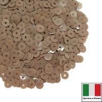 Пайетки 4 мм Италия плоские, цвет 8234 Nocciola Opaline (Фундук Опалин) 3 грамма 059667 - 99 бусин