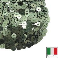 Пайетки 4 мм Италия плоские цвет 7029 Verde Acqua Metallizzato (Зеленая вода мет.) 3 грамма (ок. 900 штук) 059668 - 99 бусин