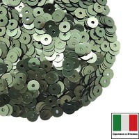 Пайетки 4 мм Италия плоские цвет 7029 Verde Salvia Metallizzato 3 грамма (ок. 900 штук) 059668 - 99 бусин