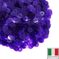 Пайетки 4 мм Италия плоские цвет 5542 Viola Lustre 3 грамма (ок. 900 штук) 059669 - 99 бусин