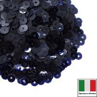 Пайетки 4 мм Италия плоские цвет 6062 Blu Royal Lustre 3 грамма (ок. 900 штук) 059670 - 99 бусин