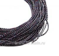 Канитель FANCY 1,5 мм гладкая упругая, цвет silver/red (серебро/красный/голубой) 5 граммов (около 1,5 метров) 059720 - 99 бусин