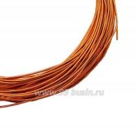Канитель жесткая 1 мм, цвет оранжевый, пр-во Индия, упаковка 5 граммов (разные отрезки, общая длина около 1,3 метров) 059722 - 99 бусин