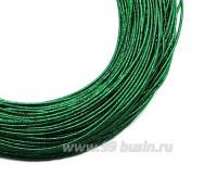 Канитель SLIM FANCY 1,3 мм гладкая упругая, цвет green metal (зеленый металлик) 5 граммов (около 2,3 метров) 059754 - 99 бусин