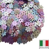 Микс пайеток Цветочки Сатин Италия 5 мм 916W,806W,306W,506W,606W 3 грамма 059857 - 99 бусин