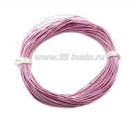 Канитель опт гладкая жесткая 1,25 мм, цвет розовый, пр-во Индия, упаковка 100 граммов 059863 - 99 бусин