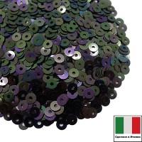 Пайетки 3 мм Италия плоские, цвет 5020 Scarabeo Orientale 3 грамма (ок.1600 штук) 059869 - 99 бусин