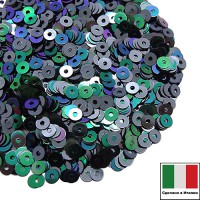 Пайетки 3 мм Италия плоские, цвет 9275 Scarabeo Metallizzato 3 грамма ок 1800 штук 059870 - 99 бусин