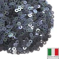 Пайетки 3 мм Италия плоские, цвет 0707 Grigio Orientale 3 грамма (ок.1600 штук) 059871 - 99 бусин