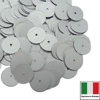 Пайетки 10 мм Италия плоские цвет 916W Argento Satinato (матовое серебро) 3 грамма (ок. 150 штук) 059893 - 99 бусин
