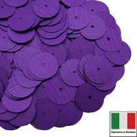 Пайетки 10 мм Италия плоские цвет 556W Viola Satinato (Фиолетовый сатин) 3 грамма (ок. 150 штук) 059898 - 99 бусин