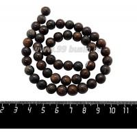 Натуральный камень БРОНЗИТ, бусина круглая 8 мм, коричневые тона, 38 см/нить 059923 - 99 бусин