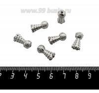 Колпачок Большой Воланчик, 15*7 мм, цвет старое серебро 6 штук/упаковка 059968 - 99 бусин