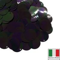 Пайетки 12 мм боковое отверстие Италия плоские, цвет 5020 Scarabeo Orientale 3 грамма 060109 - 99 бусин