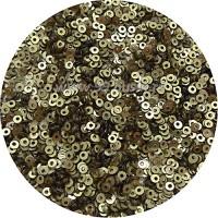 Пайетки плоские 2,5 мм  Antique Brass № 001 Индия 5 грамм (ок. 2000 штук) 060152 - 99 бусин