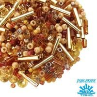 Бисер TOHO Beads Mix, цвет 04 Beige2, 10 грамм/упаковка 060182 - 99 бусин