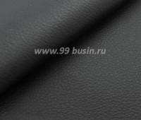 Экокожа Италия, цвет черный матовый, размер 20*14 см,  толщина 1 мм, фактурность мелкая, 1 лист 060232 - 99 бусин