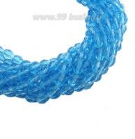 Бусина хрустальная Капля размер 7-8*5-6 мм морская волна, нить 25-26 см, ок.35 штук Китай 060249 - 99 бусин