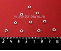 Разделитель Шайба 5*2 мм, цвет светлое серебро, 10 штук/упаковка 060375 - 99 бусин