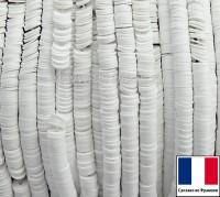 Пайетки 3 мм Франция плоские на нити цвет 10090 blanc mat - белый мел (Серия METALLIC MAT ASPECT) 1000 штук 060410 - 99 бусин
