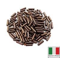 Стеклярус Винтажный 7 мм, гладкий, цвет античная медь, 5 грамм/упаковка, Италия 060422 - 99 бусин