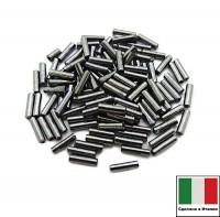 Стеклярус Винтажный 7 мм, гладкий, цвет гематит, 5 грамм/упаковка, Италия 060423 - 99 бусин
