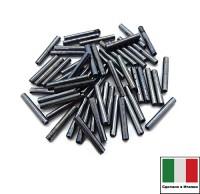 Стеклярус Винтажный 15 мм, гладкий, цвет гематит, 5 грамм/упаковка, Италия 060426 - 99 бусин