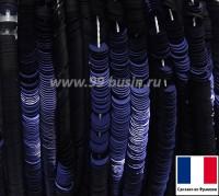 Пайетки 3 мм Франция плоские на нити цвет 2075-s metallic dark Navy Blue тёмно-синий (Серия METALLIC) 1000 штук 060436 - 99 бусин
