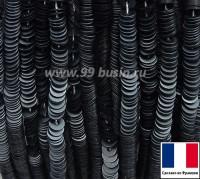 Пайетки 3 мм Франция плоские на нити цвет 10070 grey mat - серый сатин (Серия METALLIC MAT ASPECT) 1000 штук 060442 - 99 бусин