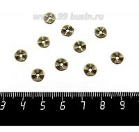 Разделитель Волна 7*1,2 мм, цвет бронза 10 штук/упаковка 060453 - 99 бусин