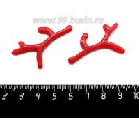 Подвеска Коралловая веточка 46*30 мм акрил, цвет красный, 1 штука 060456 - 99 бусин
