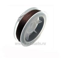 Нить для бисера Титан-100 шоколадный №2567 катушка 100 метров, толщина 0,1 мм полиэстер 100% 060469 - 99 бусин