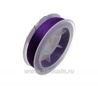Нить для бисера Титан-100 темно-фиолетовый №2632 катушка 100 метров, толщина 0,1 мм полиэстер 100% 060470 - 99 бусин