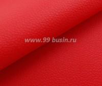 Экокожа, цвет красный, размер 20*14 см, толщина 0,8 мм, фактурность мелкая, 1 лист 060476 - 99 бусин