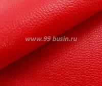 Экокожа, цвет красный глянец, размер 20*14 см, толщина 0,8 мм, фактурность мелкая, 1 лист 060477 - 99 бусин