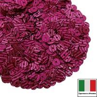 Пайетки Италия гофрированные 4 мм цвет G4 Fucsia (фуксия) 3 грамма 060481 - 99 бусин