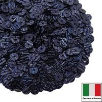 Пайетки Италия гофрированные 4 мм цвет G8 blue scuro (тёмный синий) 3 грамма 060485 - 99 бусин