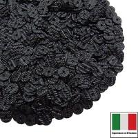 Пайетки Италия гофрированные 4 мм цвет G11 nero (чёрный) 3 грамма 060488 - 99 бусин