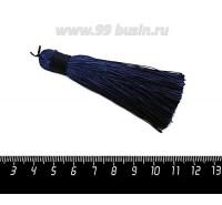 Кисточка 8 см, цвет синяя полночь, материал полиэстр, 1 штука 060501 - 99 бусин