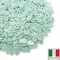 Пайетки Италия лаковые 4 мм цвет Tiffany (Тиффани) 3 грамма 060522 - 99 бусин