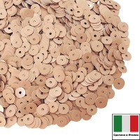 Пайетки Италия лаковые 4 мм цвет Tortora (Крем-карамель) 3 грамма 060524 - 99 бусин