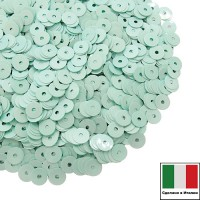 Пайетки Италия лаковые 5 мм цвет Tiffany (Тиффани) 3 грамма 060526 - 99 бусин